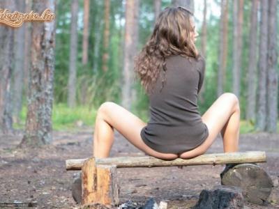 Pihenő az erdőben