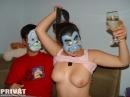 Amatőr pár maszkban... - 4. kép
