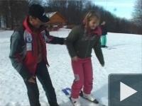 Gizi majdnem síelni tanul...