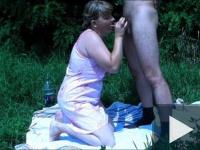 Ilonka Szegedről szabadban szexel